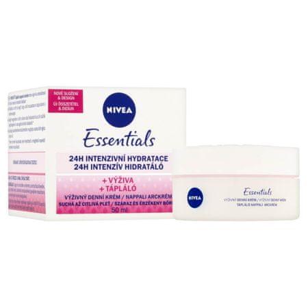 Nivea Skin Essentials dnevna krema za obraz, suha in občutljiva koža, 50 ml