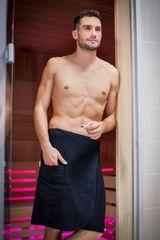 MaryBerry Pánský černý kilt do sauny