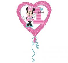 """Fóliový balón 17"""" - """"Minnie 1. narodeniny"""""""