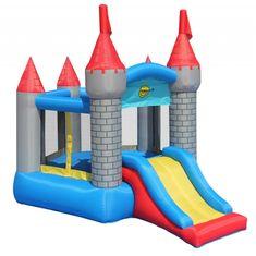 Happy Hop Pětiúhelníkový skákací hrad se skluzavkou