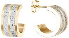 Gravelli Körkörös acél fülbevalók Fusion GJEWYGG101UN