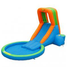 Happy Hop Bazén s velkou nafukovací skluzavkou, skákací hrady