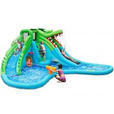 Happy Hop Velký vodní aqua park Krokodýl s velkým bazénem, skákací hrady