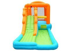Happy Hop Velká vodní skluzavka s bazénkem, nafukovací skluzavka na zahradu, skákací hrady
