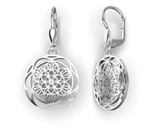 Jewstone Stříbrné náušnice Mandala – Květ života 3,7g, Ag 925/1000+Rh