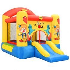 Happy Hop Skákací hrad Klaun se skluzavkou a basketbalovým košem