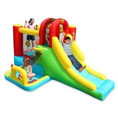 Happy Hop Dobrodružné hrací centrum se skluzavkou a bazénkem s míčky, skákací hrad