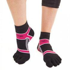 TOETOE Dámské i pánské bavlněné sportovní barevné prstové ponožky