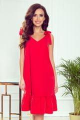 """Numoco Šaty """"Rosita"""" se zdobením na ramenou, červená"""
