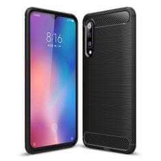MG Carbon Case Flexible szilikon tok Xiaomi Mi 9 SE, fekete