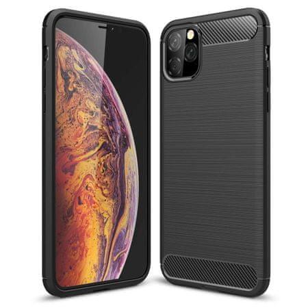 MG Carbon Flexible silikonski ovitek za iPhone 11, črna