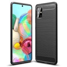 MG Carbon Case Flexible TPU púzdro na Samsung Galaxy A51, čierne