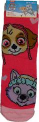 FOOT Ponožky tlapková patrola dívčí, růžové