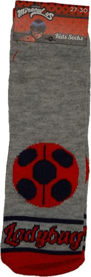 Miraculous Ladybug Ponožky kouzelná beruška šedá. - 23-26