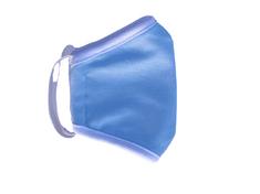 Rouška dětská, vel. 12-16 LET, 2 vrstvá, kapsička na filtr, modrá
