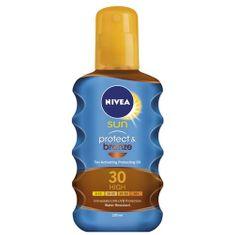 Nivea Olej na opaľovanie v spreji podporujúce zhnednutie SPF 30 Sun (Protect & Bronze Oil) 200 ml