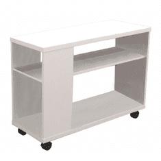 TEMPO KONDELA Príručný stolík, biela, ZOELA NEW