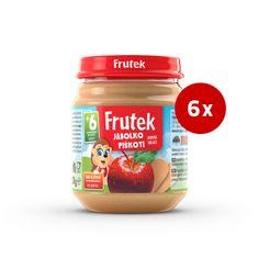 Fructal Frutek otroška kaša, piškoti in jabolko, 6 x 120 g
