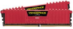 Corsair VENGEANCE LPX 32 GB (2x16GB), DDR4, 3000 MHz, C15 pomnilnik, rdeč (CMK32GX4M2B3000C15R)