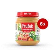 Fructal Frutek bio otroška kaša, jabolko in breskev, 6 x 120 g