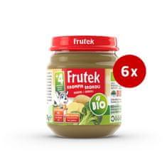 Fructal Frutek bio otroška kaša, krompir in brokoli, 6 x 120 g
