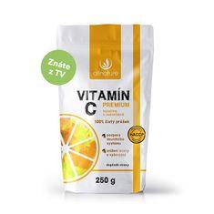Allnature Vitamín C prášok Premium 250 g - Extra výhodné balenie pro celú rodinu