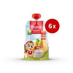 Fructal Frutek Pouch otroška kaša, breskev in jogurt, 6 x 100 g