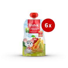 Fructal Frutek Pouch otroška kaša, marelica in 3 žita, 6 x 100 g