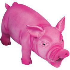Karlie latex malac játék, rózsaszín, 22 cm