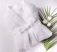 Saffran Vaflový župan kimono bílý, 220 gr