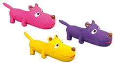 Karlie sípolós játék kutyáknak, latex, különböző színek, 26x8x9 cm