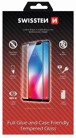 SWISSTEN szkło FULL GLUE, Color frame, case friendly HUAWEI P SMART 2019/HONOR 10 LITE czarne (54501710)