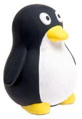 Karlie sípolós latex pingvin, játék kutyáknak, fekete-fehér, 10x9 cm
