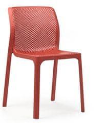 Nardi Garden Židle BIT korálově červená - set 2ks