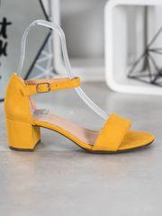 Filippo Žluté sandálky na podpatku