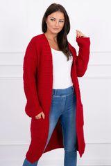 Kesi Pletený cardigan s kapucí, červená