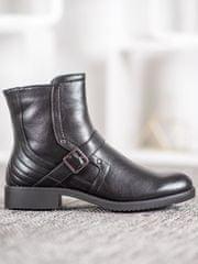 Stylomat Kotníkové boty na plochém podpatku