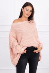 Kesi Široký svetr, oversized, světle růžová