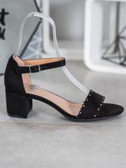 Filippo Semišové sandálky s perličkami