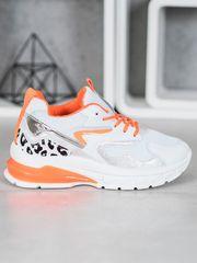 Stylomat Sneakersy s oranžovými doplňky