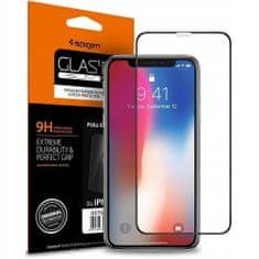 Spigen Full Cover ochranné sklo na iPhone 11 / XR, čierne