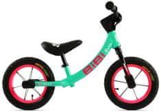 MAX1 Dětské odrážedlo BIBI EVO s duralovým rámem, bez brzdy - barva mint/růžová