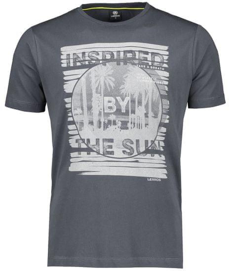 Lerros pánske tričko 2043064 XXL sivá