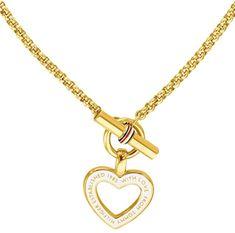 Tommy Hilfiger Dámsky pozlátený náhrdelník so srdcom TH2780157