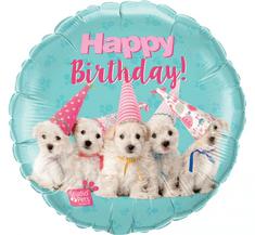 """Qualatex Fóliový balón 18"""" - """"Happy Birthday! Pets"""""""