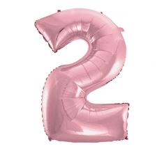 GoDan Fóliový balón číslo 2 - ružová - 92 cm