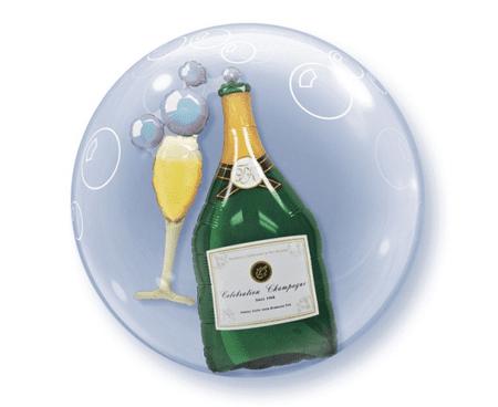 """Qualatex Léggömb fólia BUBBLES 21"""" - Champagne 61 cm"""