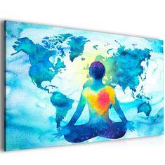 InSmile *Abstraktní obraz mapa meditace Velikost: 120x80 cm