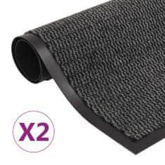 shumee 2 db antracitszürke négyszögletes szennyfogó szőnyeg 120x180 cm