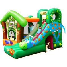 Happy Hop Veselá džungle Žirafa skákací hrad se skluzavkou